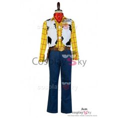 Disney Toy Story Sheriff Woody Cowboy Outfit Cosplay Costume_2