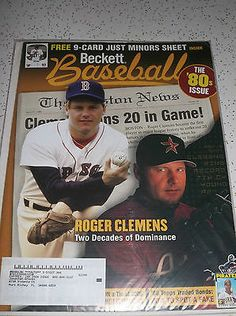 May 2005 Beckett Baseball The '80s Issue Roger Clemens 9 Card Just Minors Sheet - find this and many other similar items at ThenAndAgainTreasures on eBay