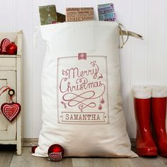 A really stylish and original alternative to a traditional stocking or pillowcase any child s face is sure to light up when they see this fabulous