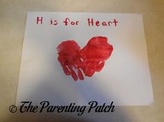 H Is for Heart Handprint Craft | Parenting Patch