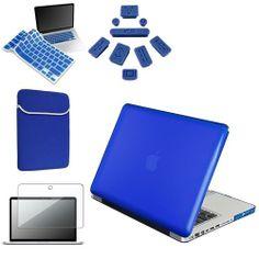 INSTEN 5 Accessory Blue Hard Case Sleeve keyboard skin screen guard For Macbook Pro 13 Review Buy Now