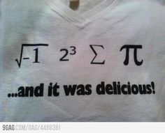 """Someone help me....  What's the square root of -1??  Who """"ate some pie!!?"""""""