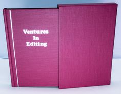 Rare Limited First Edition Signed Book - Ventures In Editing by James Michener -    A Fantastic and very rare book.  This is a stated first edition of a limited issue of 274 numbered (the stated limitation, but the actual number issued was only 148) and 26 lettered and SIGNED copies.