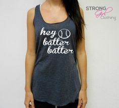 Eco Hey Batter Batter Tank Top. Hey Batter by StrongGirlClothing, $21.99