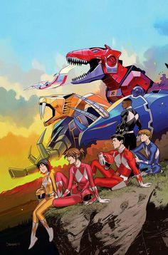 Mighty Morphin Power Rangers by Dan Mora Go Go Power Rangers, Power Rangers Comic, Mighty Morphin Power Rangers, Power Rangers Poster, Kamen Rider, Desenho Do Power Rangers, Otaku Anime, Gi Joe, Ranger