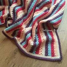 Ta-dah At last!! Beautiful cosy stripe pattern and bobble border by @attic24  This one will be for sale in our new shop (link in bio)