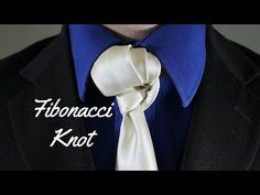 How To Tie a Tie – The Fibonacci Knot…. Tie A Necktie, Necktie Knots, Tie Bow, Ascot, Eldredge Knot, Scarf Knots, Cool Ties, Sharp Dressed Man, Mans World