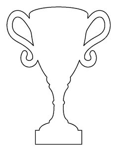 Free Sports Patterns for Crafts, Stencils, and Cup Crafts, Diy Crafts For Kids, Art For Kids, Trophy Craft, Football Crafts, Journal Fonts, Free Shapes, Sport Craft, Fathers Day Crafts