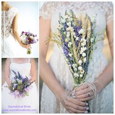 Lavender wedding ideas ... the theme goes well beyond the herb. This color mixes well with darker purples and can be incorporated in many ways. #AspirationalBride