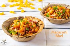 Macaroni Bhel-Macaroni Chaat Recipe - Kali Mirch - by Smita Indian Snacks, Indian Food Recipes, Ethnic Recipes, Indian Appetizers, Italian Food Appetizers, Schezwan Chutney, Party Food Buffet, Chaat Recipe, Appetisers