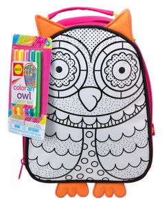 Color A Lunch Bag Owl