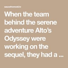 When the team behind the serene adventure Alto's Odyssey were working on the sequel, they had a lot of ideas that didn't make it into the final release. One of those was a vibrant city that would be the game's fourth biome, joining the existing desert, canyons, and ancient temples. For various reasons, the city… Alto Game, Bangla Comics, I Get Money, Lost City, Biomes, New City, The Expanse, Temples, Arcade
