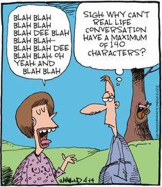 Bleh Bleh - limit it to 140 characters! #socialmedia