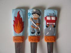 felnőtt méretű evőeszköz készlet - leendő kis tűzoltóknak