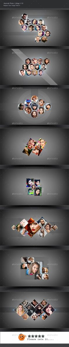 Abstrakt Photo Collage V02 Photo Collage Template, Collage Photo, Long Shadow, Grid Design, Photoshop Effects, Photoshop Photography, Photo Effects, Photo Displays, Illustration Art