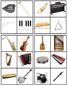 matrix muziek: sorteren op soort instrument: blaas-, slag-, snaar- en toetsinstrument Elementary Music, Elementary Education, Music Education, Music Do, Music Games, Kitty Party Games, Music Worksheets, Learn German, Musical Toys