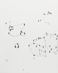 Jürgen Partenheimer, »Lichtschwarm (Fadensonnen)«, 2013 | Öl auf Leinwand | 128 x 191 cm