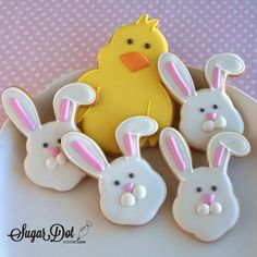 Sugar Dot Cookies: Easter Bunny and Chick Sugar Cookies