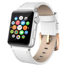 Apple Watch Band Leather Swees iWatch Genuine Leather Bands Replacement Strap with Stainless Steel Clasp Buckle for Apple Watch Series 3 Series 2 Series 1 Sports & Edition Women Men Grey Apple Watch Bands 42mm, Apple Watch Series 2, Iphone Accessories, Series 3, Leather, Stainless Steel, Amazing, Awesome, Jewelry Watches