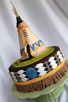 Native+American+cake+-+Cake+by+Kateřina+Lončáková