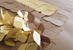 Cushionsan produces fun packaging products — mostly sponge shapes that both protect and decorate. Its new Leaves, however, are sheets of paper cutouts that can be manipulated in cascading masses of autumnal foliage.