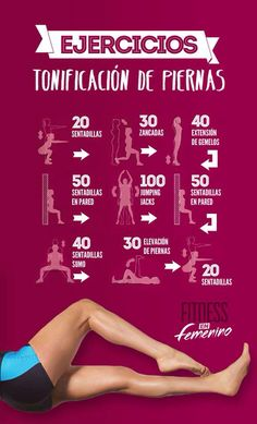 9 ejercicios para tonificar las piernas Fitness in women More Related Post Vanessa Hudgens Lost 20 Lbs. Female Fitness Quotes To Motivate You 36 Fat Blasters Program Top 5 Exercises to Lift Your Boobs Body Fitness, Fitness Diet, Fitness Goals, Health Fitness, Reto Fitness, Fitness Planner, Fitness Studio Training, Fitness Classes, Gewichtsverlust Motivation
