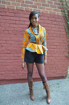 African Print Top  Justina Wrap Top by CHENBURKETTNY on Etsy. #Africanfashion #AfricanClothing #Africanprints #Ethnicprints #Africangirls #africanTradition #BeautifulAfricanGirls #AfricanStyle #AfricanBeads #Gele #Kente #Ankara #Nigerianfashion #Ghanaianfashion #Kenyanfashion #Burundifashion #senegalesefashion #Swahilifashion DK