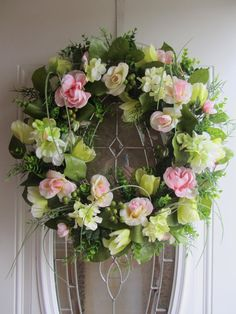 Door Wreath,  Summer  Wreath,  Hydrangea Wreath, Front Door Decor via Etsy