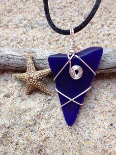 276 dark Blue Seaglass - sold