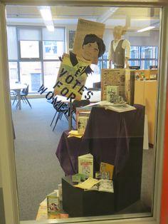 Suffragette book display.