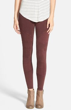 Free shipping and returns on Sun & Shadow Moto Washed Leggings at Nordstrom.com. Sleek moto seam details zoom around the surface of these soft and stretchy washed cotton leggings.