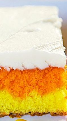 Candy Corn Cake ~ Festive and super easy
