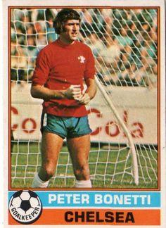 Peter Bonetti, goalkeeper, Chelsea, 1977.
