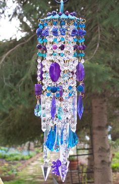 Passion Flower Antique Crystal Wind Chime