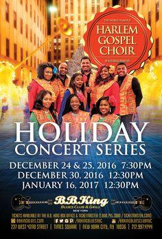 Harlem Gospel Choir Holiday Concerts (12.24-25.16, 12.30.16, 1.16.17)