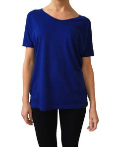 The new ANISA Slouchy Tee in Deep Blue!