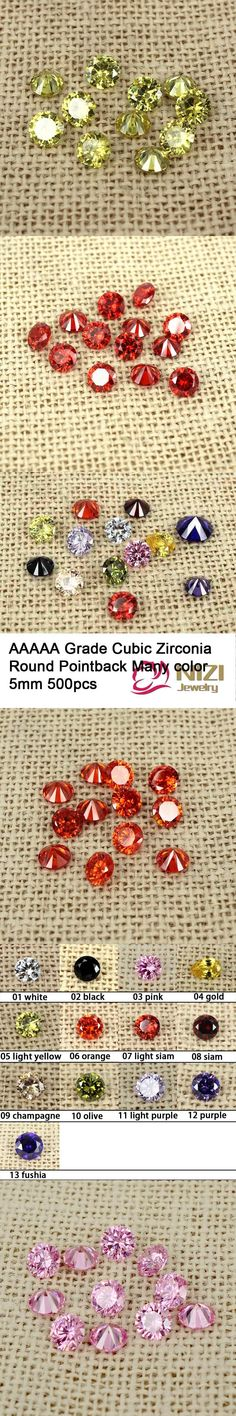5mm 500pcs AAAAA Grade Brilliant Cuts Cubic Zirconia Beads Supplies For Jewelry Round Shape Pointback Stones Nail Art Decoration