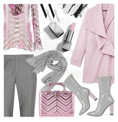 """""""Pink & Grey"""" by cilita-d ❤ liked on Polyvore featuring Joseph, Vince, Balenciaga, Emilio Pucci, Burberry, Samantha Holmes, Bobbi Brown Cosmetics and Gucci"""