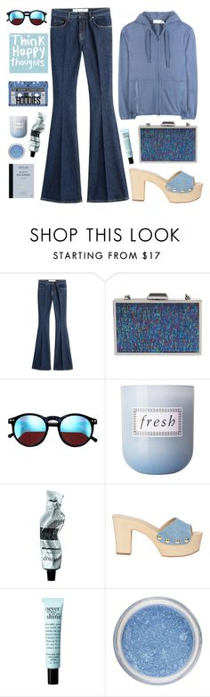 """The Flares and The Hoodies"" by karineminzonwilson ❤ liked on Polyvore featuring dVb Victoria Beckham, Jessica McClintock, Wildfox, Fresh, Aesop, Giuseppe Zanotti, philosophy, adidas, women's clothing and women's fashion"