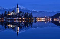 Bled Blue Hour by Csilla Zelko, via 500px