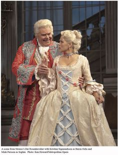 Costumes from the opera Der Rosenkavalier by Richard Strauss. That's the part I sang! Sophie.