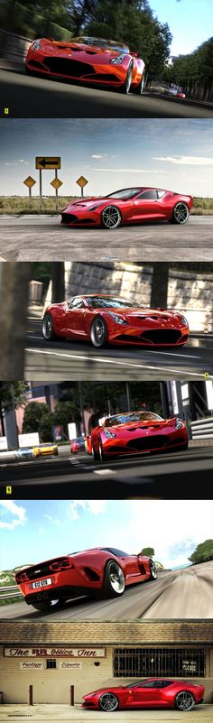 The Ferrari 612 GTO is a very interesting proposal by German Sasha Selipanov