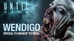 Until Dawn wendigo halloween makeup tutorial
