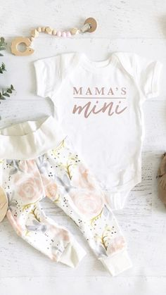 f504c8cae2a6f mama's mini Baby Girl Onesie, Baby Clothes Girl, Cute Baby Onesies,  Adorable Baby
