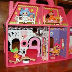 Lalaloopsy Mini Doll House Living Room and Dining room - Sew fun to make!