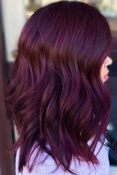 red violet hair ideas
