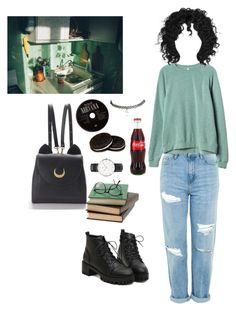 """""""Untitled #28"""" by lemonboy-222 on Polyvore featuring Topshop, RVCA, WithChic, Daniel Wellington and Wet Seal"""