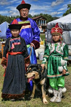 Buryat family, Siberia, Russia. Photo by Lidless