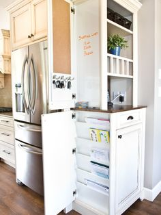 A great place to keep everthing you dont want to see in your kitchen out of eyesight.  more: http://foter.com/kitchen-furniture/