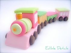 Train cake topper by Edible Details - www.edibledetails.com